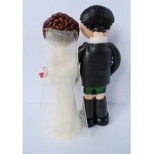 Scottish cake topper with kilt