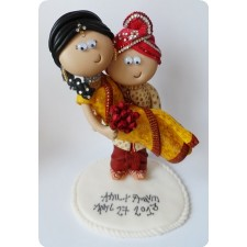 Indian wedding topper personalised