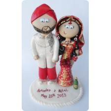 Sikh Wedding cake topper personalised