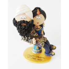 Sikh Bride & Groom cake topper