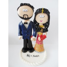Pakistani Bride & Groom cake topper