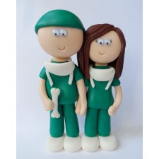 Surgeon Bride & Grom wedding cake topper