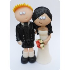 Scottish wedding cake topper personalised