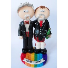 LGBT Gay Scottish wedding cake topper