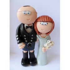 Scottish kilt wedding cake topper