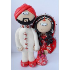 Indian Bride & Groom cake topper