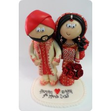 Sikh Wedding Cake topper, personalised