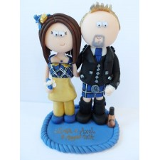 Scottish & German wedding cake topper