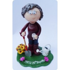 Gardening Grandma personalised birthday cake topper