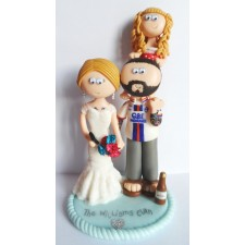 Tattoo tattooed wedding cake topper with child