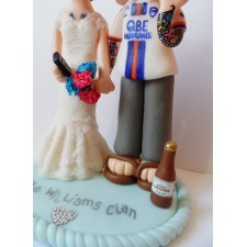 Tattoo tattoed Bride & Groom cake topper