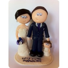 Wedding cake topper, family
