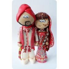 Custom made Indian wedding cake topper