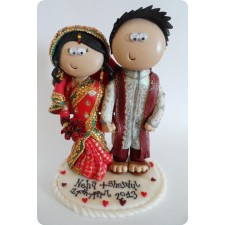 Custom handmade and personalised Indian wedding cake topper