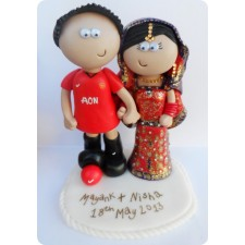 Manchester United Indian wedding cake topper