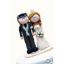 Wedding cake topper in action