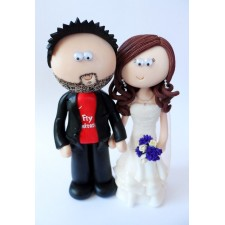 Arsenal Groom and his Bride wedding cake topper