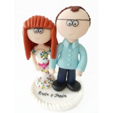 Bride & Groom wedding cake topper