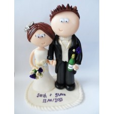 Funny personalised wedding cake topper