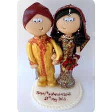 Indian personalised wedding topper