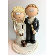 Chocoholic Bride & Groom funny wedding cake topper