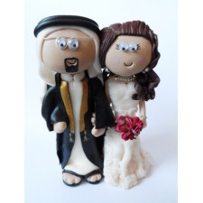 Saudi Arabia Bride & Groom wedding cake topper
