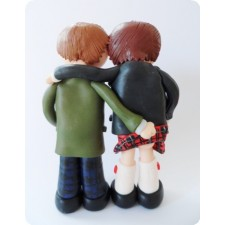 Civil gay wedding cake topper