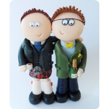 Personalised Scottish Civil partnership cake topper