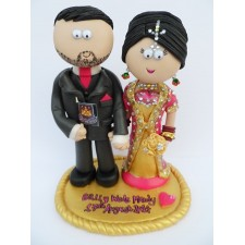 Pakistani Bride and Groom cake topper