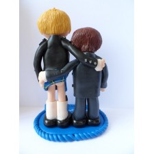 LGBT gay Scottish wedding cake topper with cheeky bum flash!