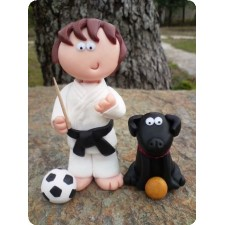 Karate birthday cake toppers