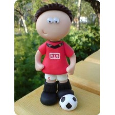 Football birthday cake toppers