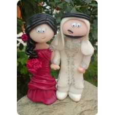 Saudi Arabian Bride and groom wedding cake topper