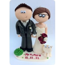 Bride and groom Personalised wedding cake toppers