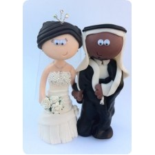 Saudi Arabian wedding cake topper personalised