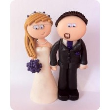 Bride and groom wedding cake toppers, personalised