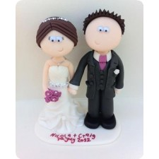 Personalised Bride and groom wedding cake topper