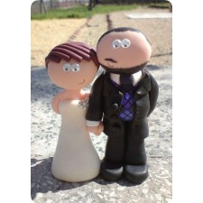 Golfing wedding cake toppers