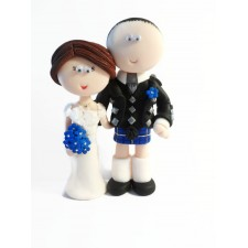 Scottish wedding cake topper