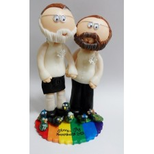 LGBT Gay wedding cake topper 2 Grooms