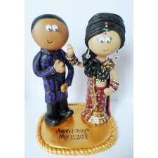 Asian Bride & Groom cake topper