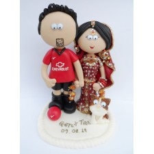 Manchester United wedding cake topper