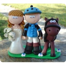 Jockey wedding cake topper