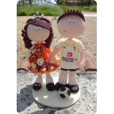 Irish dancing & Football wedding cake topper