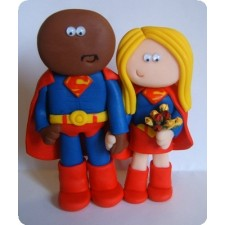 Superman personalised wedding cake topper