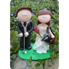 Golf wedding cake topper