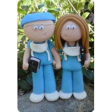 Doctor and surgeon wedding cake topper