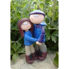 Camping and hiking wedding cake topper