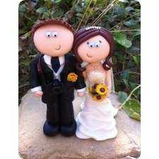 Photographer wedding cake topper