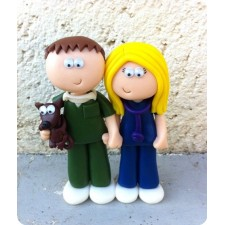 Vet & Vet Nurse wedding cake topper